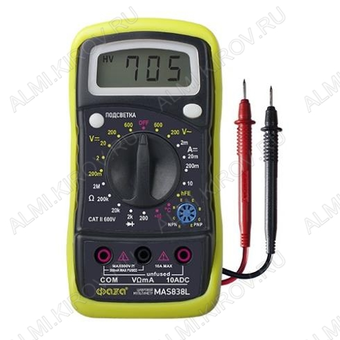 Мультиметр MAS-838L