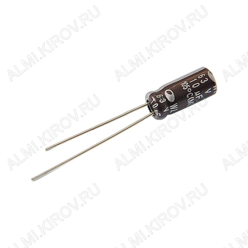 Конденсатор CAP10/63V 0511 (-40 - +105°C) компьютерные;