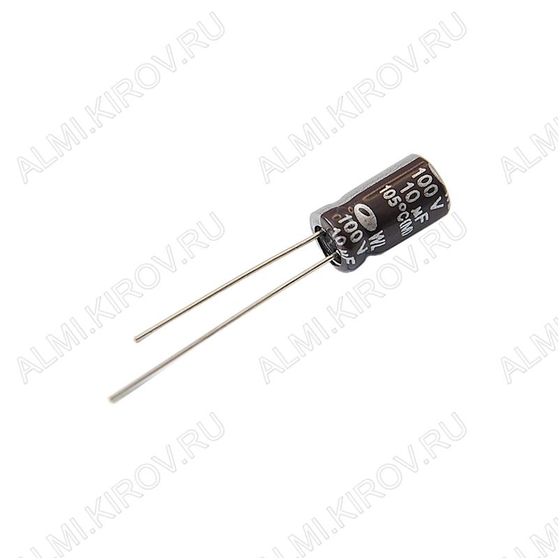 Конденсатор CAP10/100V 0611 (-40 - +105°C) компьютерные;