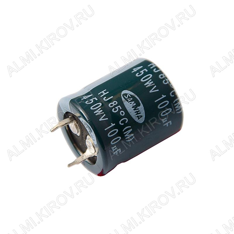 Конденсатор электролитический   100мкФ 450В 2225 +85°C
