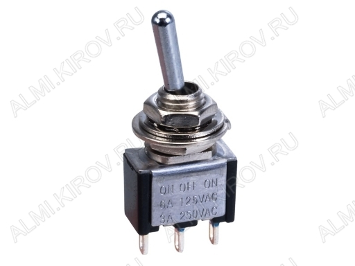 Тумблер MTS-102 (250V;3A) ON-ON 3 pin