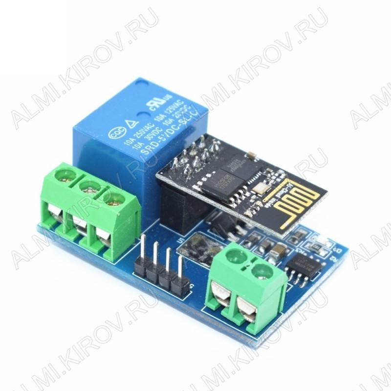 Модуль реле с Wi-Fi 5В с управлением по Wi-Fi на чипе ESP8266.
