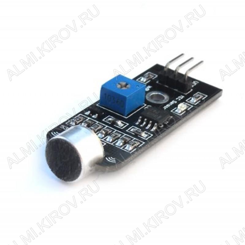 Датчик звука пороговый, выдает 1 или 0, в зависимости от уровня шума вокруг.