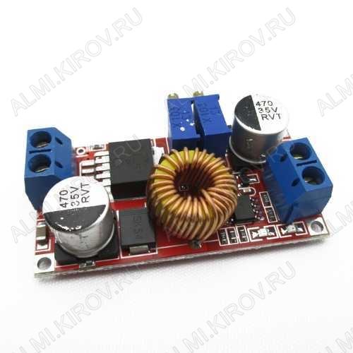 Радиоконструктор Преобразователь DC/DC в 0,8...30В(5А) из 5...32В (RP027) Понижающий. Стабилизатор тока. Частота преобразования 300 кГц;