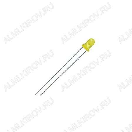 Светодиод LED 3 Ж; 150M ARL-3514UYD-150mcd Желтый матовый; 60°; 20mA