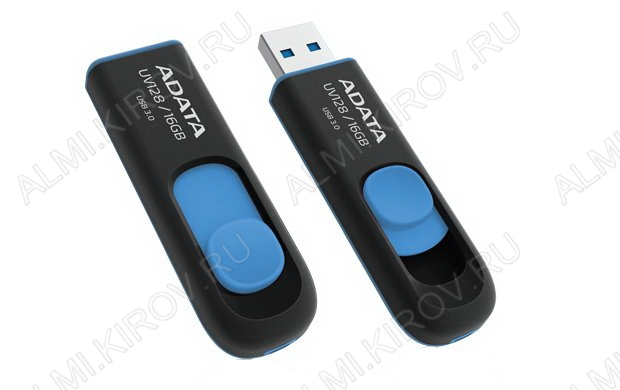 Карта Flash USB 16 Gb (UV128 Black/Blue) USB3.0