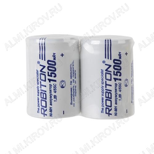 Аккумулятор 4/5SC MH-1500SC/HP 1500mAh 1.2V;NiMh; 23*34мм                                                                                                          (цена за 1 аккумулятор)