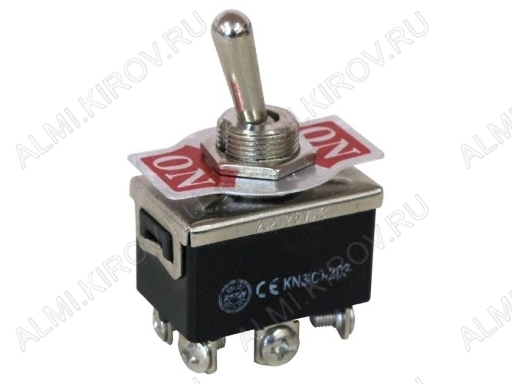 Тумблер RWC-609 (250V;6A) (ON)-OFF-(ON) без фиксации 6 pin