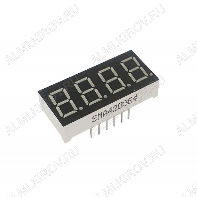 Индикатор SMA420364 (HS420361k-32) LED 3DIG,0.36', красный (катод)