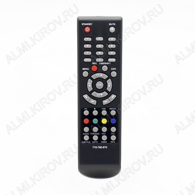 ПДУ для ORIEL ДУ-7 (для ресивера 710/720/740/750/751/821/825/840/870/910/920/950) DVB-T2