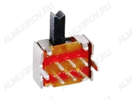 Переключатель движковый RWJ-006L угловой 2 положения; 6 pin