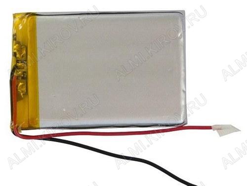 Аккумулятор 3.7V LP754261 2000mAh Li-Pol; 42*61*7.5мм                                                                                                               (цена за 1 аккумулят