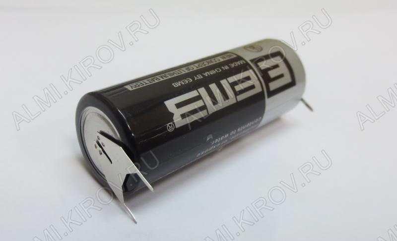 Элемент питания ER18505-VB 3.6V, 4000mA/h 3pin выводы для горизонтальной установки