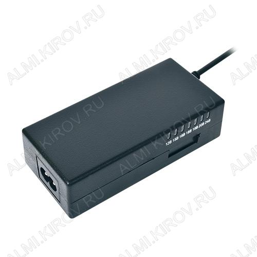 Блок питания AC/DC 220V/12-24V 3.5A NB70W для ноутбуков Uвых.=12/15/16/18/19/20/24V (Iвых=3.5A); 8 насадок; USB-разъем 5V, 1A