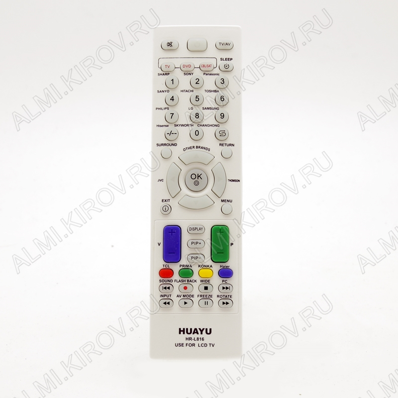 ПДУ УНИВЕРСАЛ HR-L816 TV/DVD/SAT