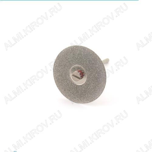 Диск алмазный двухсторонний FLE058 Диаметр диска - 30 мм.; Толщина диска - 0,3 мм.; Диаметр держателя - 2/3 мм.; Ширина покрытия - 7,5 мм.