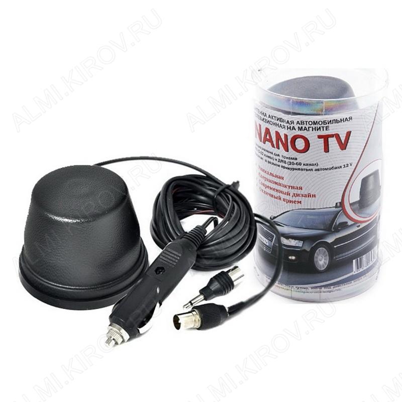 Антенна автомобильная NANO TV активная
