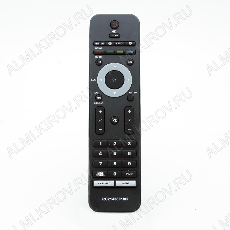 ПДУ для PHILIPS RC-2143801/02 LCDTV