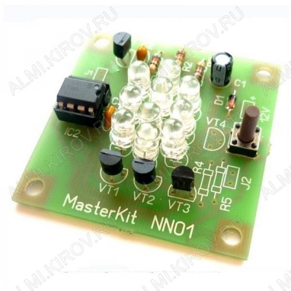 Радиоконструктор Хамелеон NN101 (питание: 12В) Напряжение питания 12В; Потребляемый ток 200мА; Размеры 50х50мм.