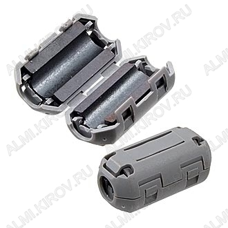 Фильтр ферритовый ZCAT1730-0730A серый на кабель d=4.0-7.0 мм