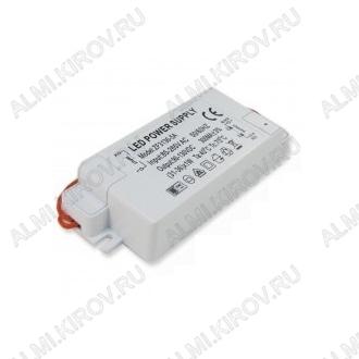 Драйвер светодиодный (18W, 600mA) ZF-AC Uвх.=220VAC, Uвых.=10-22VDC 600mA, 78х32х20мм, пластик