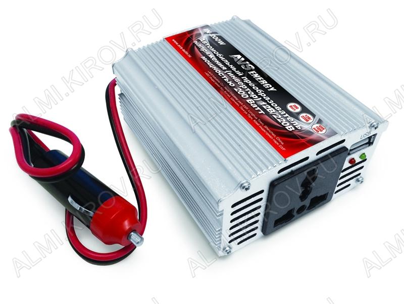 Адаптер DC/AC 12V/220V IN-200W 220В 50Гц 200Вт автомобильный инвертор