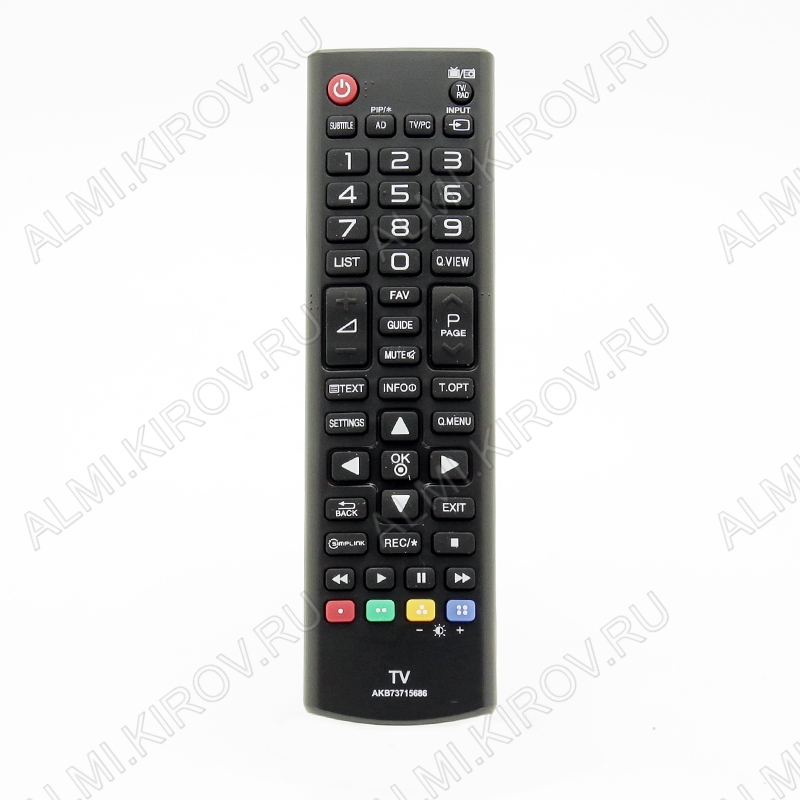 ПДУ для LG/GS AKB73715686 LCDTV