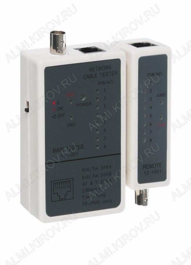 LAN-тестер HT-C003 (12-1001) для RJ-45 + BNC