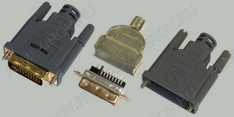 Разъем (619) DVI-D штекер на кабель разборный