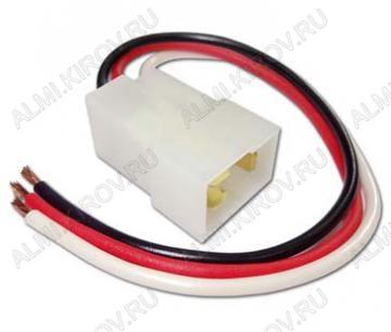 Колодка (A025) штыревая КСШ3х1,5 с проводами размеры: 31,3х20,2х15,4мм
