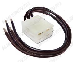 Колодка (A027) штыревая КСШ4х1,5 с проводами размеры:32х26,7х16,6мм