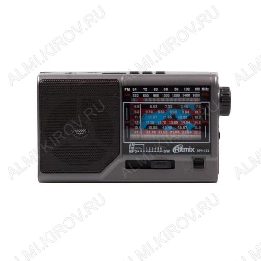 Радиоприемник RPR-151 УКВ 88,0-108.0МГц; разъем USB, microSD; Питание от аккумулятора или 3xR6