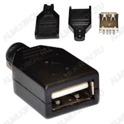Разъем (3712) USB A-F гнездо на кабель с кожухом