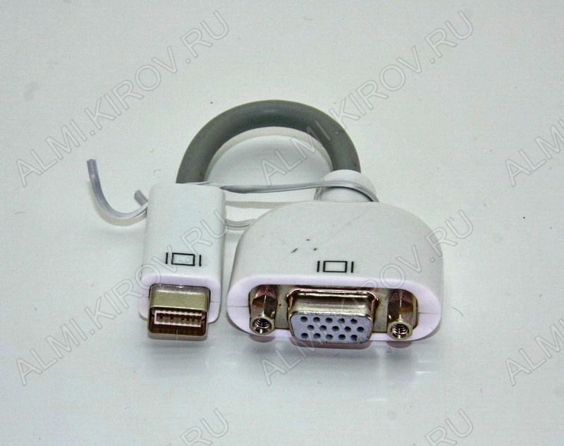 Переходник (2212) MINI DVI штекер/VGA гнездо