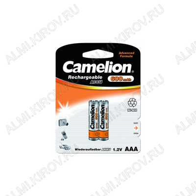 Аккумулятор R03/AAA 600mAh 1.2V;NiMh;блистер 2/24/480                                                                                                  (цена за 1 аккумулятор)