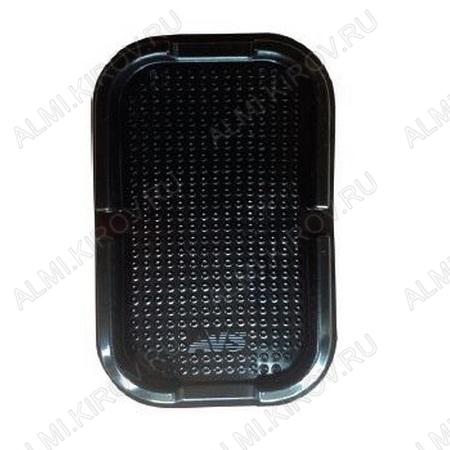 Коврик на приборную панель не скользящий NP-020 Nano (15,5х10см) с бортами черный