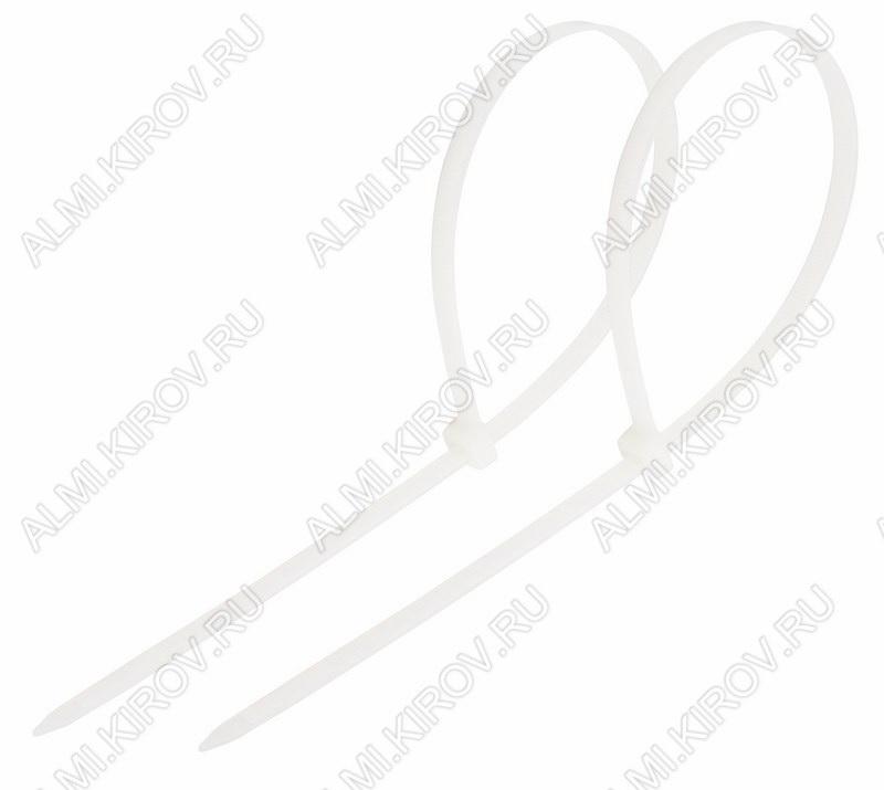 Стяжка кабельная 250*3,6 мм белая (100шт)