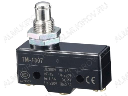 Переключатель RWA-507 (TM-1307) кнопка 15.0A/250V; 3 pin