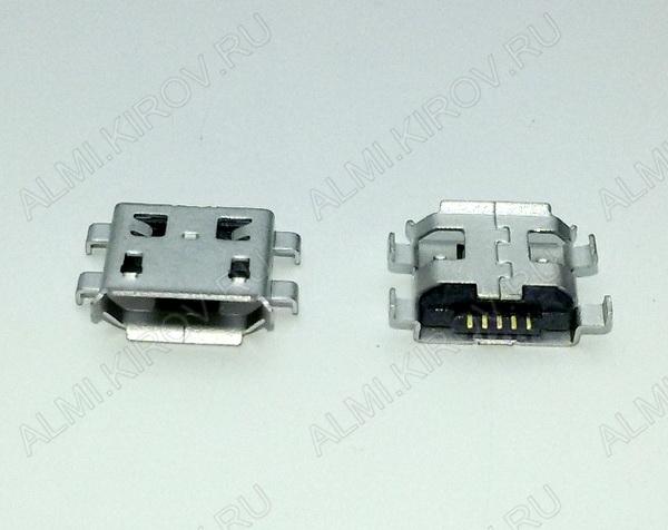 Разъем (3891) MICRO USB 5pin гнездо на плату (PU03)