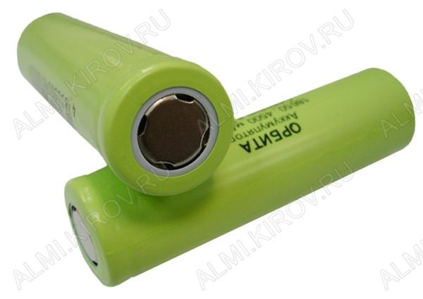 Аккумулятор 18650 (3.7V, 4500/2000mAh) LiIo; 18.2*65.5мм                                                                                                               (цена за 1 аккумулятор