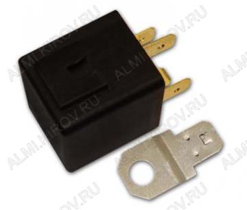 Реле авто. 401.3787-10 (4 pin) замыкающее 24В, ток 20/10А, размеры 37х28х23мм