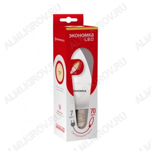 Лампа светодиодная 220В/  7Вт/ E14/ 4500К (дневной белый) (L227)/ 560lm (Eco_LED7wCNE1445);