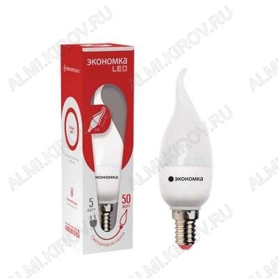 Лампа светодиодная 220В/  5Вт/ E14/ 4500К (дневной белый) (L230)/ 350lm (Eco_LED5wCWE1445);