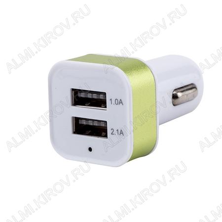 Адаптер DC/DC 12V/5V AV-330 2100mA 2 USB-разъема (гарантия 2 недели) Блок питания/зарядное устройство для MP3/Flash плееров, Apple iPod, моб.телефонов, смартфонов