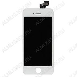 Дисплей для Apple iPhone 5S модуль белый дисплей, стекло, тачскрин