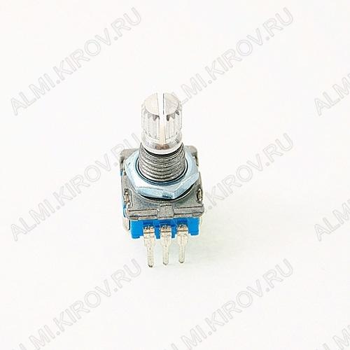 Энкодер а/м 5 pin с кнопкой (10) (R206) Вал 16 мм, металл, накатка