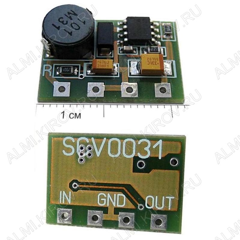 Радиоконструктор Преобразователь DC/DC в 3,3В(0,6А) из 8..16В (SCV0031-3.3V-0.6A) Понижающий. Тепловая защита, защиту от КЗ на вых. и ограничение по вых-му току