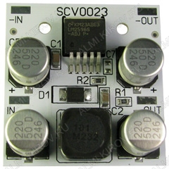 Радиоконструктор Преобразователь DC/DC в 24В(3А) из 26...40В (SCV0023-24V-3A) Понижающий. Тепловая защита, и ограничение по выходному току