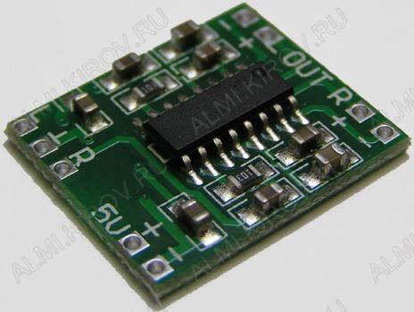 Радиоконструктор Усилитель 2х3Вт RS003 (D-класс, на PAM8403) Напряжение питания: 2,5...5 В