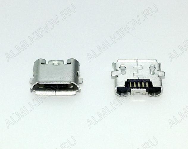 Разъем (3895) MICRO USB 5pin гнездо на плату (PU02)